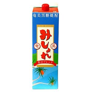 みしょれ 黒糖焼酎 25°パック  1.8L  [76159]