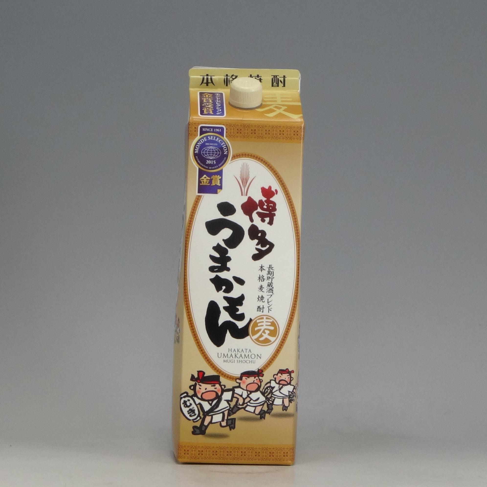 博多うまかもん 麦焼酎 25゚ 西吉田酒造1.8L  [76339]