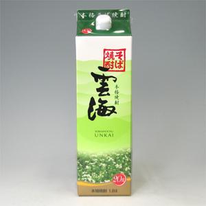 雲海 そば焼酎 20゜パック 1800ml  [76454]