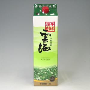 雲海 そば焼酎 25゜パック 1800ml  [76455]