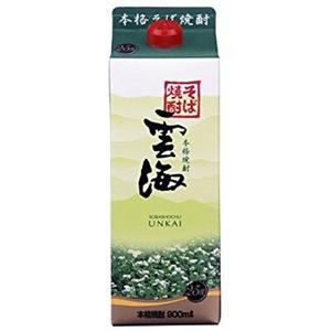 雲海 そば焼酎 25゜ パック 900ml  [76466]