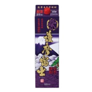 紫薩摩富士 芋焼酎 25゜パック濱田酒造1.8L  [76596]
