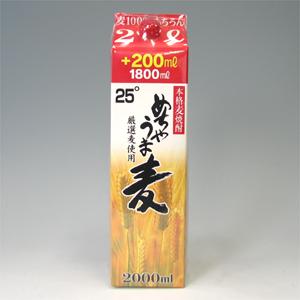 鷹正宗 めちゃうま麦 麦焼酎 25゜パック 2L  [76611]