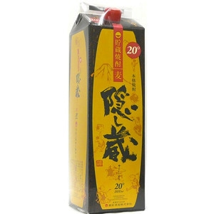 隠し蔵 麦焼酎 20゜ 紙パック 1.8L  [76702]