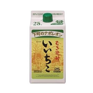 いいちこ 麦 25゜パック   900ml  [76703]